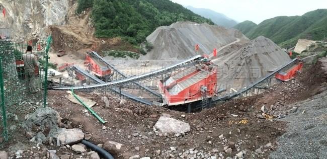 甘肃省固原三关口时产600-800吨石料生产线