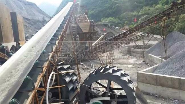 四川峨边大渡河时产250-350吨硬岩河卵石制砂生产线