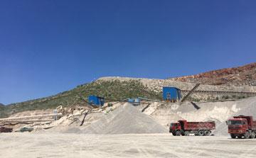 时产500吨玄武岩破碎生产线